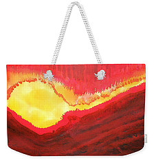 Wildfire Original Painting Weekender Tote Bag