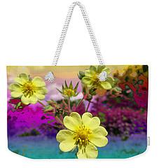 Wildflower Abstract Weekender Tote Bag by Mike Breau