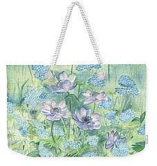 Wildflowers Weekender Tote Bag by Elizabeth Lock
