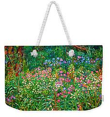 Weekender Tote Bag featuring the painting Wildflowers Near Fancy Gap by Kendall Kessler
