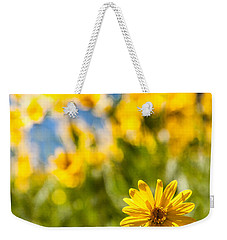 Wildflowers Standing Out Abstract Weekender Tote Bag by Chad Dutson