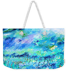 Wildlife Clouds And Shadows On Eagle Hill Weekender Tote Bag by Trudi Doyle