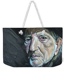 Weekender Tote Bag featuring the mixed media Will by Peter Suhocke