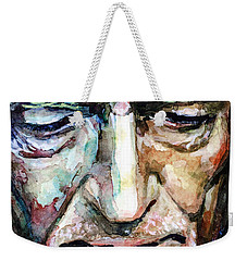 Willie Nelson  Portrait Weekender Tote Bag by Laur Iduc