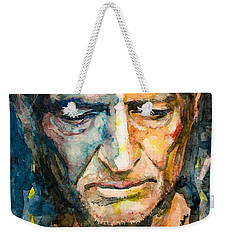 Willie Nelson  Weekender Tote Bag by Laur Iduc