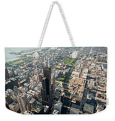 Willis Tower Southwest Chicago Aloft Weekender Tote Bag