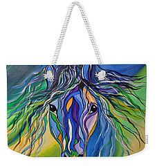 Willow The War Horse Weekender Tote Bag by Janice Rae Pariza