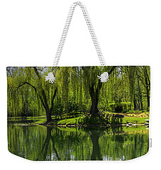 Willows Weep Into Their Reflection  Weekender Tote Bag
