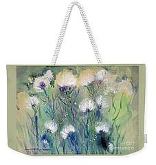 Willowy Whites Weekender Tote Bag by Joan Hartenstein