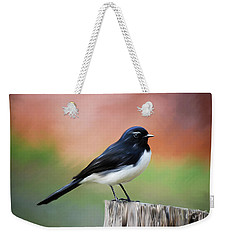 Willy Wagtail Austalian Bird Painting Weekender Tote Bag