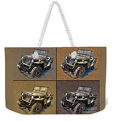 Willys Jeep Mb Car Drawing Weekender Tote Bag