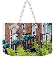 Blue Flowers On A Balcony  Weekender Tote Bag