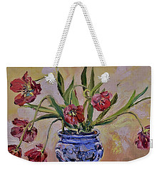 Wilting Tulips Weekender Tote Bag by Donna Tuten