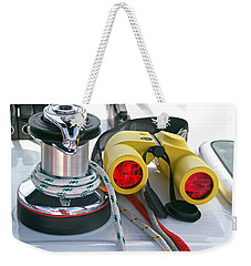 Winch And Binoculars Weekender Tote Bag by Gary Eason