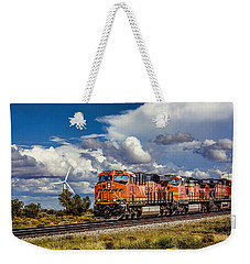 Wind And Rail Weekender Tote Bag by Fred Larson