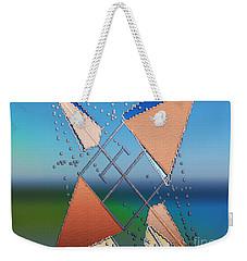 Weekender Tote Bag featuring the digital art Wind Milling by Luc Van de Steeg