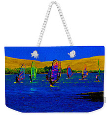 Wind Surf Lessons Weekender Tote Bag