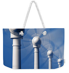 Wind Turbines In Motion From The Front Weekender Tote Bag