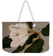 Windblown Magnolia Weekender Tote Bag by Nancy Kane Chapman