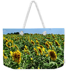 Windblown Sunflowers Weekender Tote Bag
