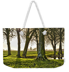 Windmill And Trees In Groningen Weekender Tote Bag