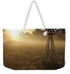 Windmill In The Fog Weekender Tote Bag