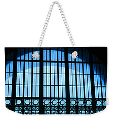 Weekender Tote Bag featuring the photograph Window In Chattanooga Train Depot by Susan  McMenamin