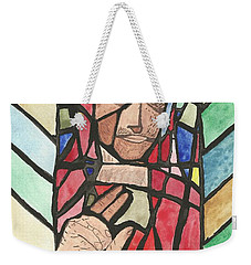 Weekender Tote Bag featuring the painting Window Of Peace by Tracey Williams