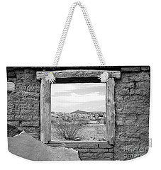 Window Onto Big Bend Desert Southwest Black And White Weekender Tote Bag