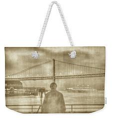 window self-portrait Embarcadero San Francisco Weekender Tote Bag