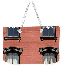 Weekender Tote Bag featuring the photograph Window's Of Hudson Ny by Ira Shander