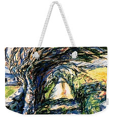 Windswept Tree On Aran Island Galway Ireland  Weekender Tote Bag by Trudi Doyle