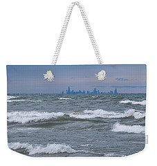 Windy City Skyline Weekender Tote Bag