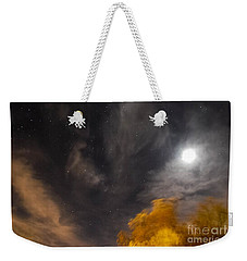 Weekender Tote Bag featuring the photograph Windy Night by Angela J Wright