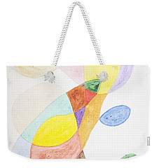 Weekender Tote Bag featuring the painting Windy  by Stormm Bradshaw
