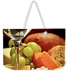 Wine And Cheese Weekender Tote Bag by Elena Elisseeva