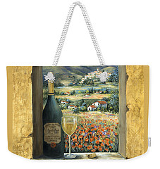 Wine And Poppies Weekender Tote Bag