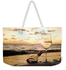 Wine And Sunset Weekender Tote Bag
