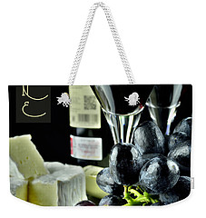 Wine Bottle With Glass Weekender Tote Bag