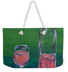 Wine Glass And Bottle Weekender Tote Bag