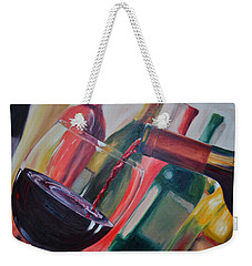 Wine Pour IIi Weekender Tote Bag by Donna Tuten