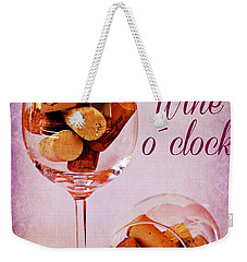 Wine Time Weekender Tote Bag