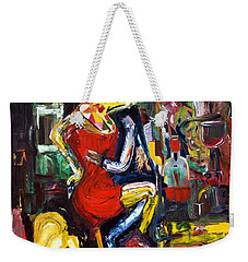 Wine Woman And Music Weekender Tote Bag