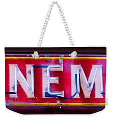 Wineman Neon Sign Weekender Tote Bag
