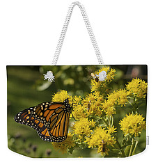 Wings - Monarch On Goldenrod Weekender Tote Bag
