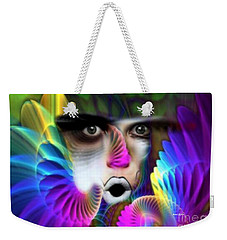 Weekender Tote Bag featuring the painting Wings by Rafael Salazar