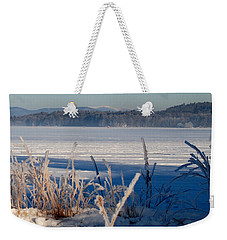 Winnisquam Winter Weekender Tote Bag by Mim White