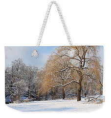 Winter Along The River Weekender Tote Bag by Nina Silver