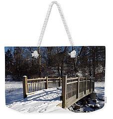 Winter At Creekside Weekender Tote Bag