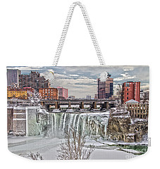 Winter At High Falls Weekender Tote Bag